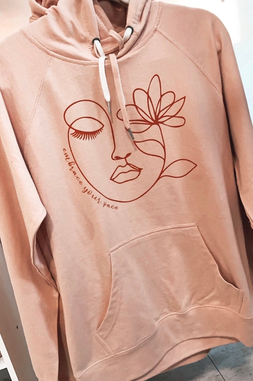 Embrace Your Pace Blush Hoodie