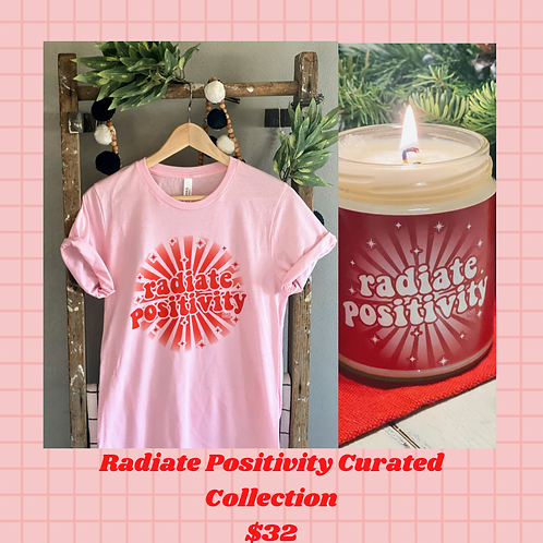 Radiate Positivity Tee and Candle