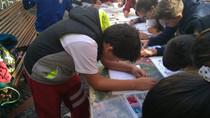 Visita del alumnado de 6º a las Cuevas Pintadas de Gáldar