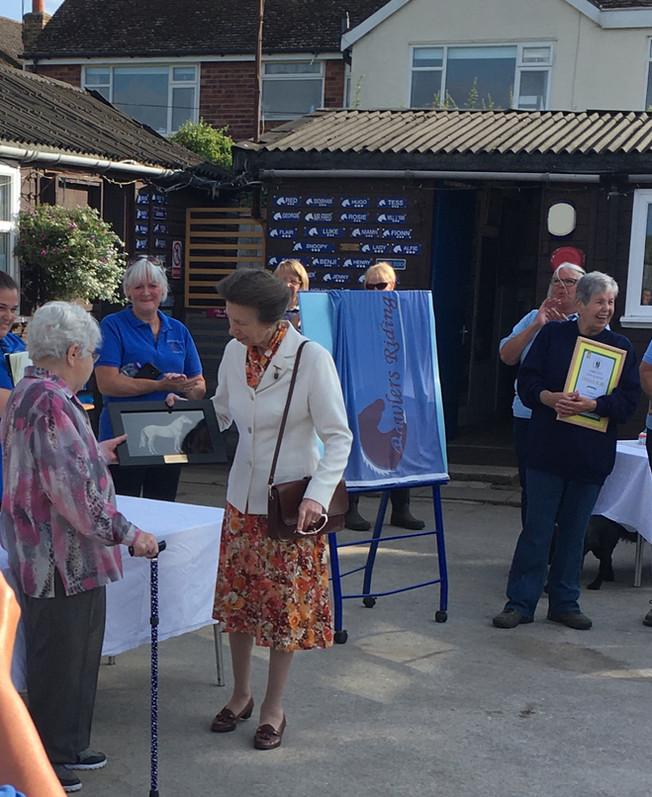 HRH The Princess Royal visits Formby & Southport RDA