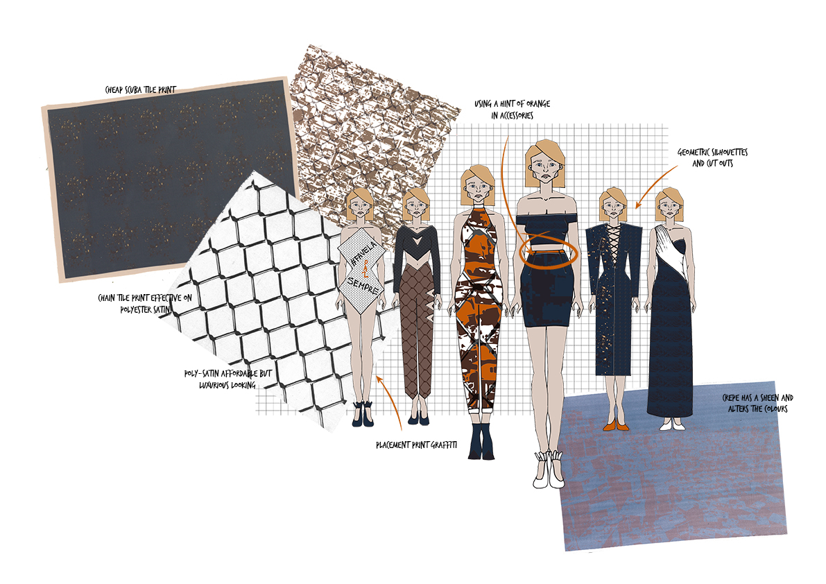 favela Graphics for Fashion Initial Designs 1 Amy Brotherton