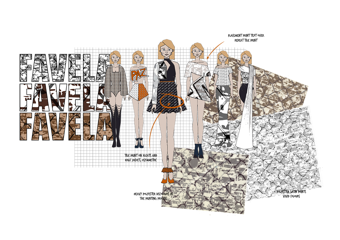 favela Graphics for Fashion Initial Designs 2 Amy Brotherton