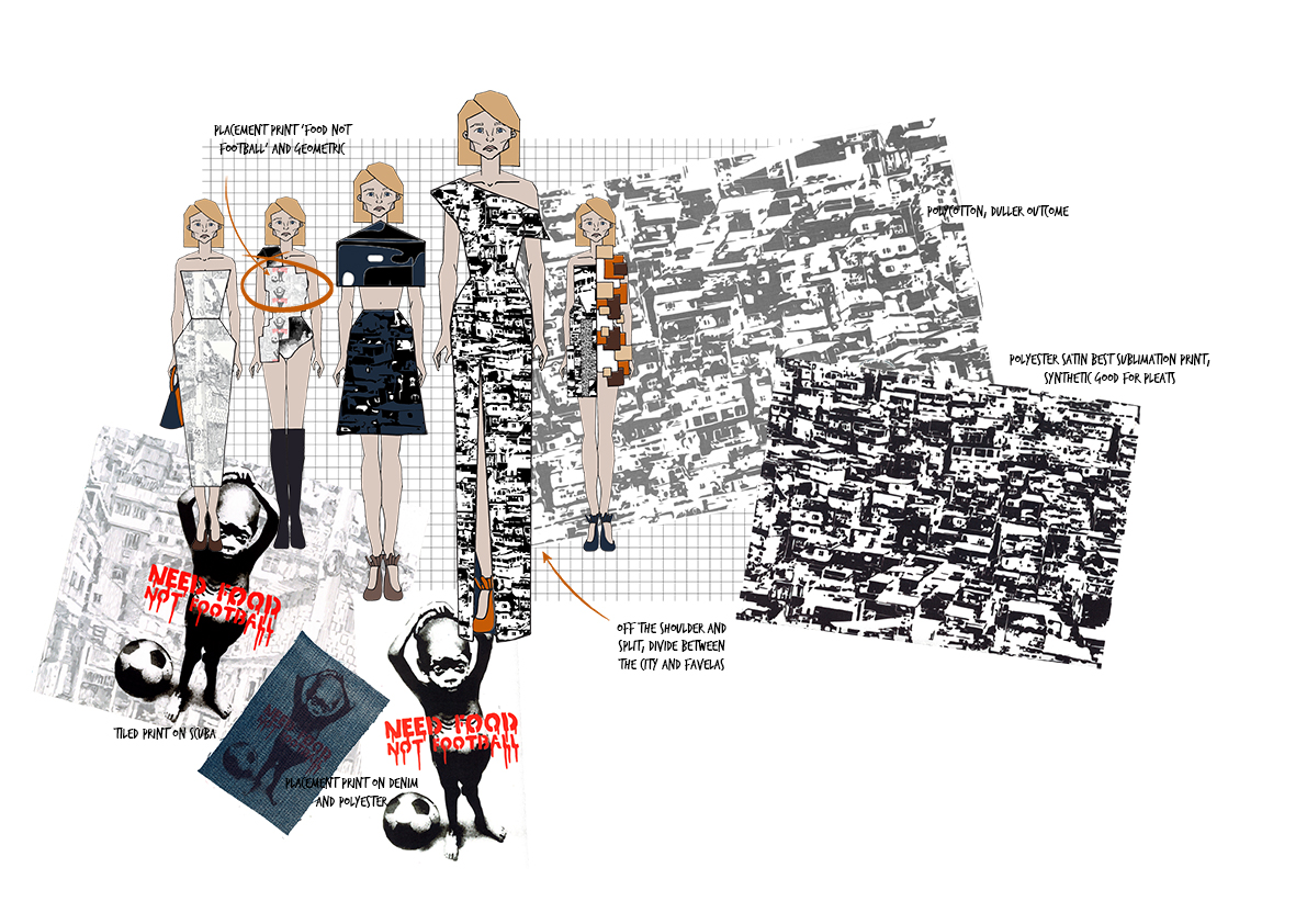 favela Graphics for Fashion Initial Designs 3 Amy Brotherton