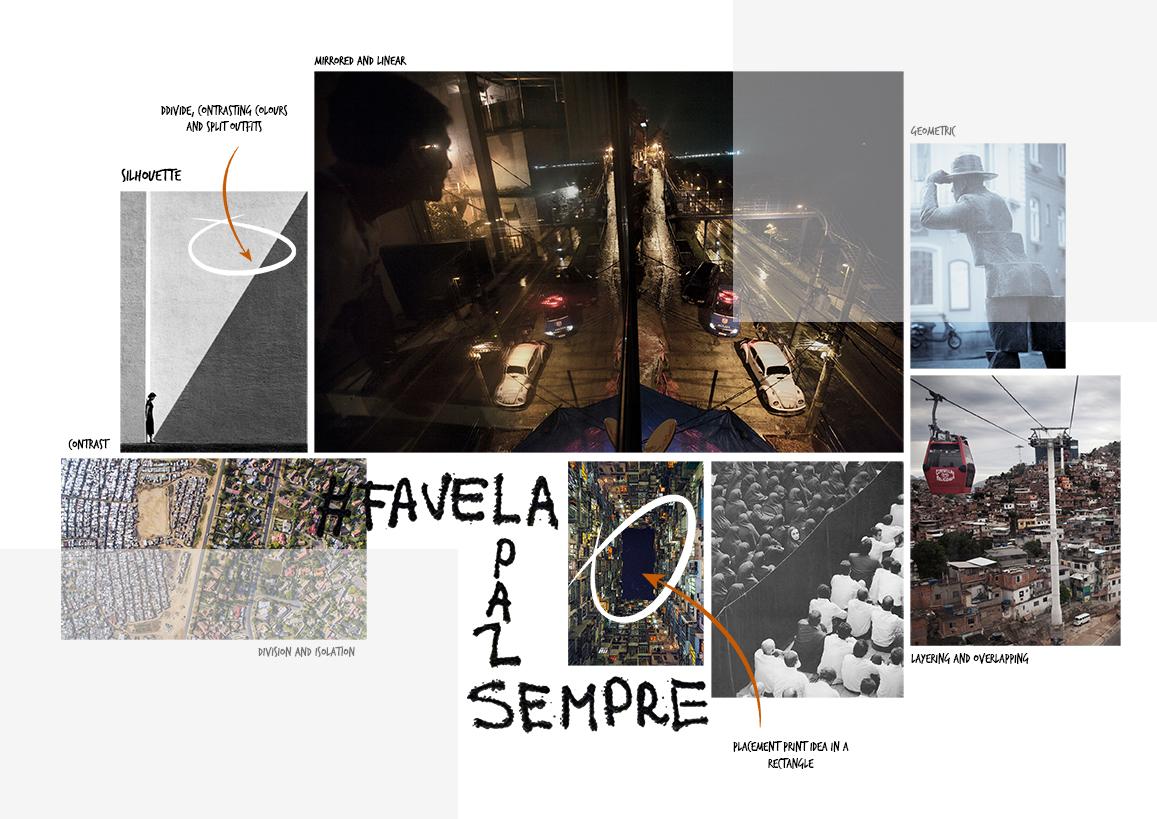 Favela Graphics for Fashion silhouette Amy Brotherton