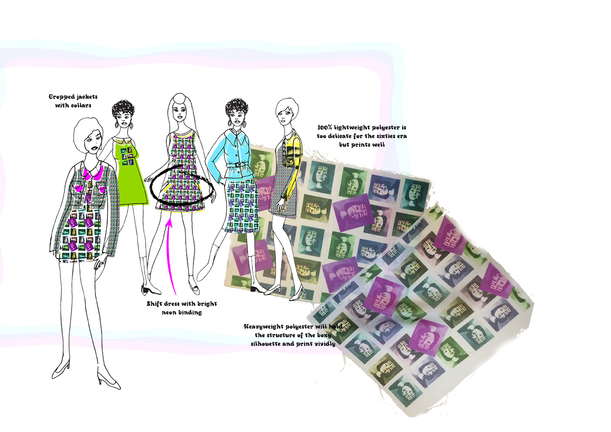 Hooked on a feeling initial design development Graphics for Fashion Amy Brotherton 1
