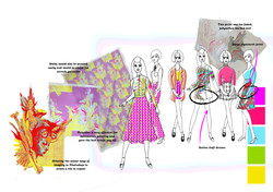 Hooked on a feeling initial design development Graphics for Fashion Amy Brotherton 2