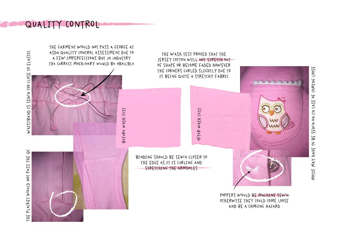 Childrenswear Quality control Amy Brotherton Technical Development George