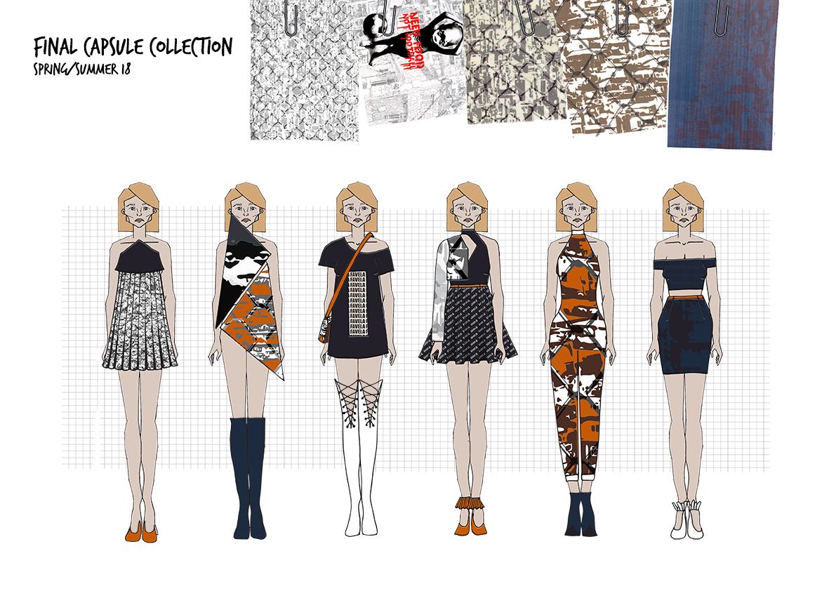 Favela Graphics for Fashion Final Line up Amy Brotherton