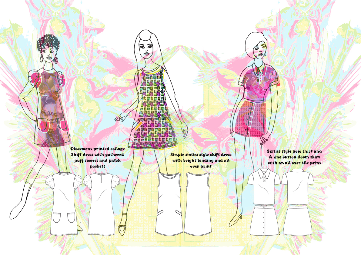 Hooked on a feeling Final flats line up Graphics for Fashion Amy Brotherton 2