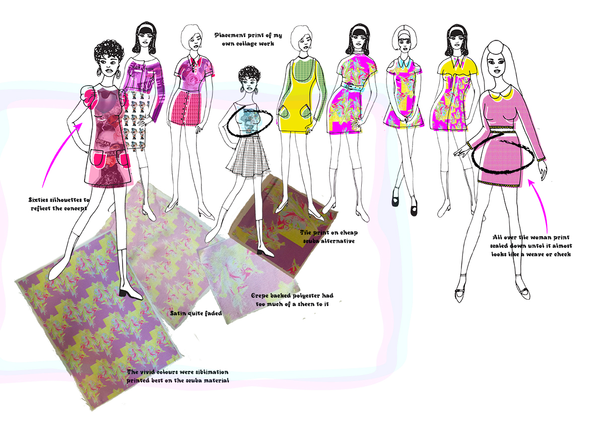 Hooked on a feeling initial design development Graphics for Fashion Amy Brotherton 3
