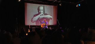 Bryan does his solo spot, Ilkley Playhouse