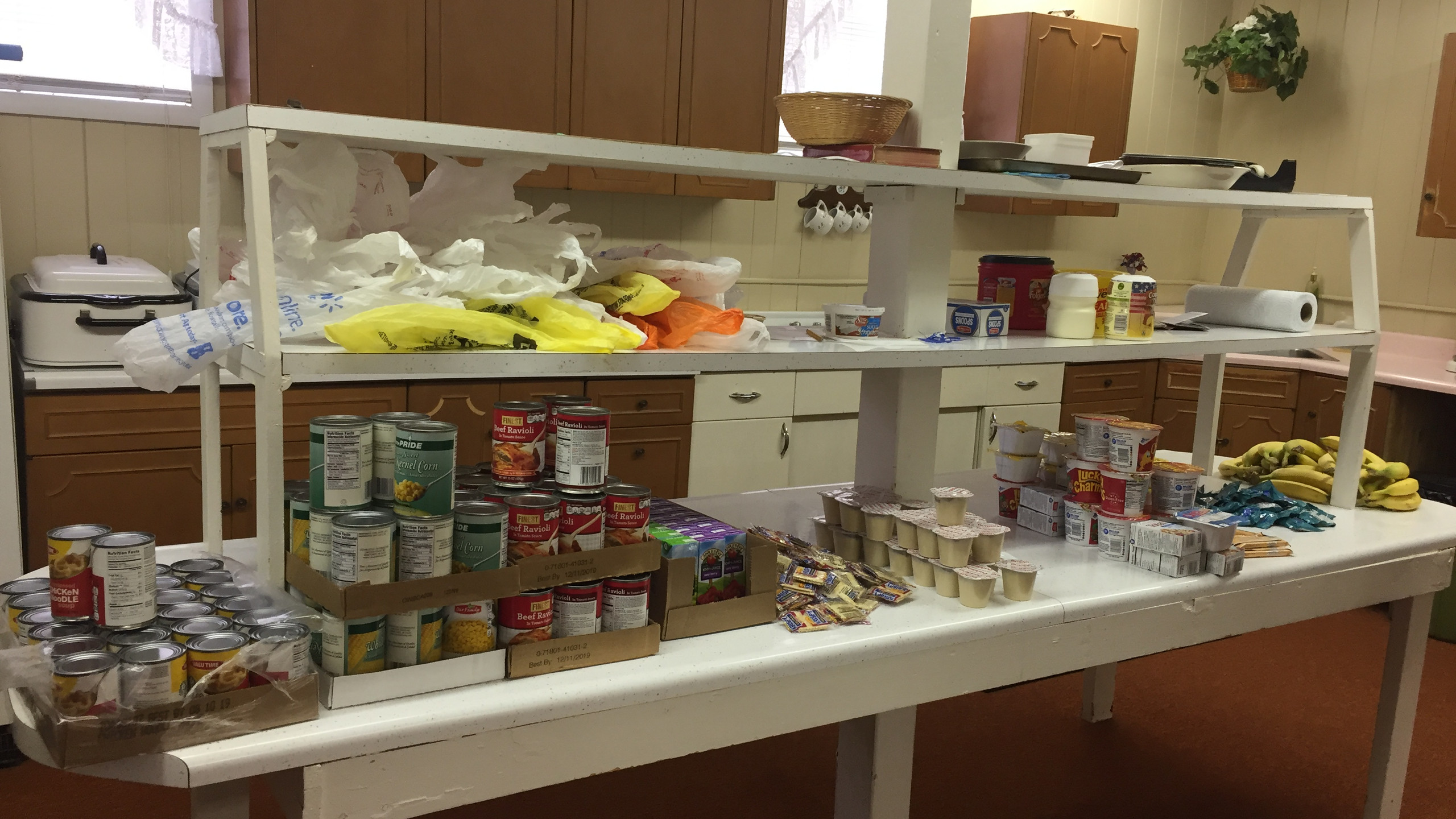 Just a sample of what is distributed each week to needy children.