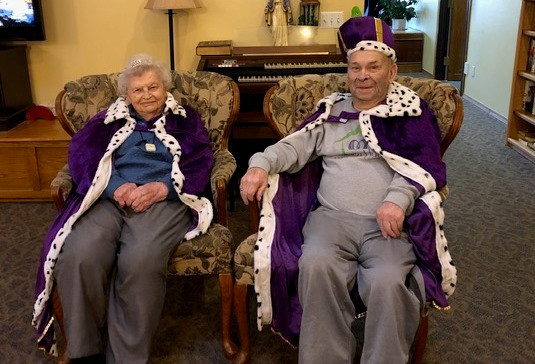 Valentine King & Queen Crowned at Haisch Haus Assisted Living