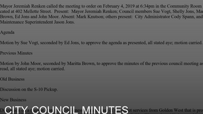 February City Council Meeting Minutes