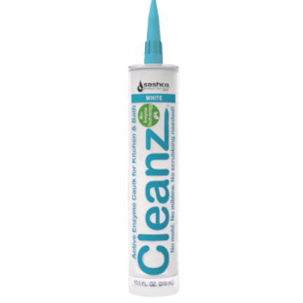 Cleanz 10.5 oz. White Active Enzyme Caulk - Sashco 11003