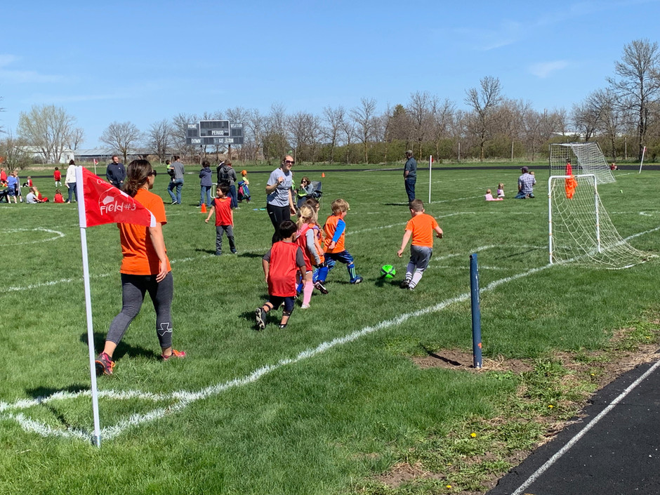 Over 140 Area Children Out for Cougar Club's Spring Soccer Season