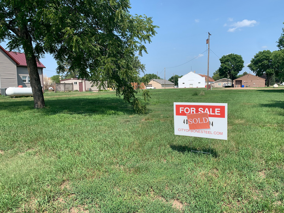 Two Lots Sold in Bonesteel With Plans for New Residences, More Lots Needed