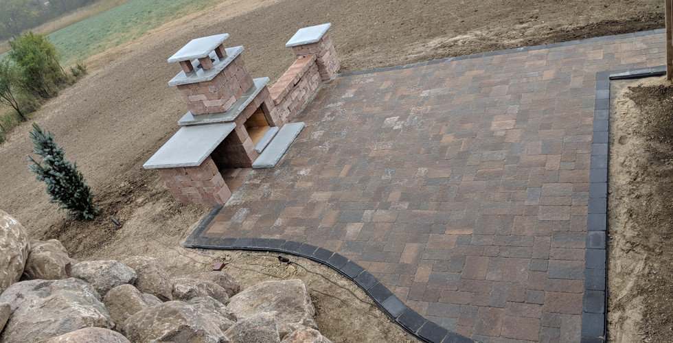 Patio, Fire Feature & Retaining Wall