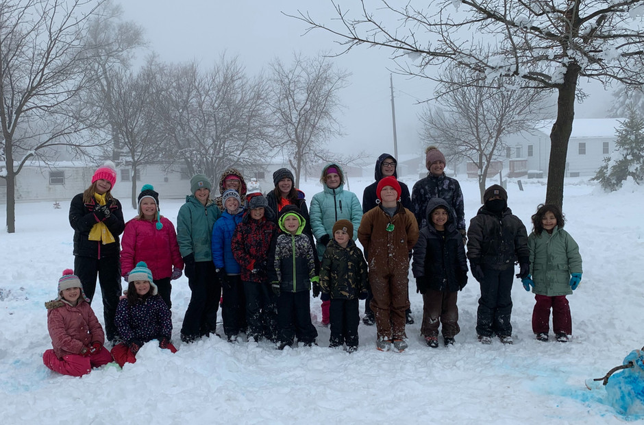 Snow Day Brings Cheer to Haisch Haus