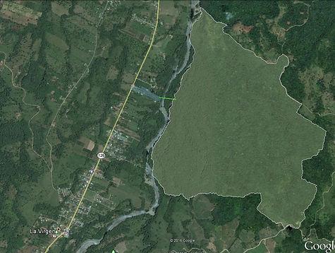 Imagen satelital Reserva Biológica Tirimbina