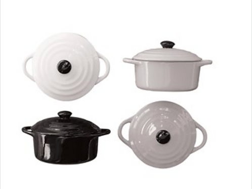Stoneware Mini Baker - White or Black
