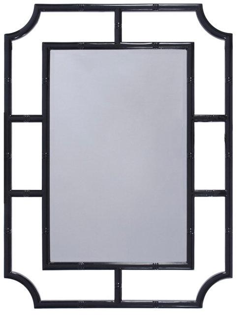 Lacquer Bamboo Mirror
