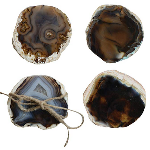 Round Agate Coasters