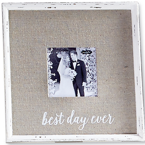 Best Day Ever Linen Frame