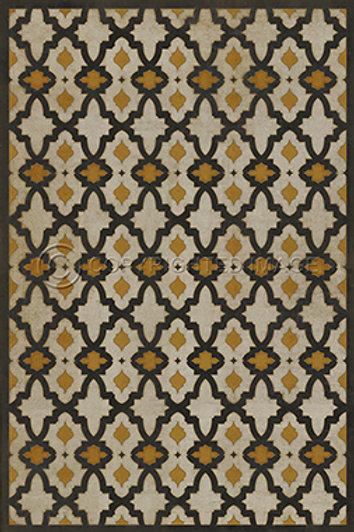 Vintage Viynl Floor Cloth 38 x 56