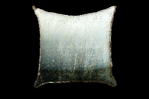 """Grey Velvet Ombre Pillow 24"""""""