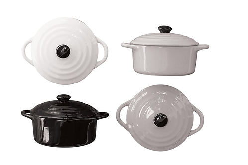 Pavonea 4 Piece Stoneware Mini Baker with Lid Set
