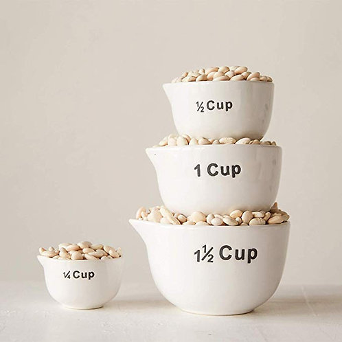 Measuring Cups S/4 - White