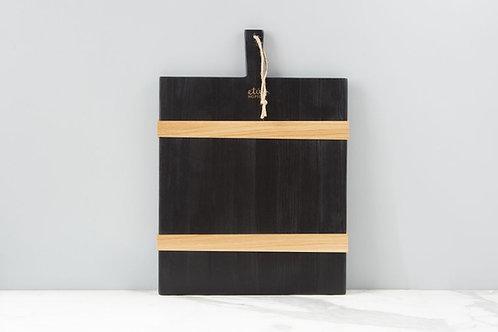 Black Rectangle Mod Charcuterie Board, Medium