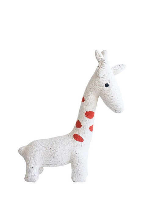 Cotton Knit Giraffe, Cream