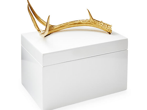 Lacquered Box with Gold Antler