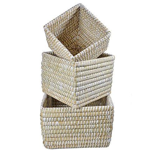 Rivergrass Mini Square Basket - Large