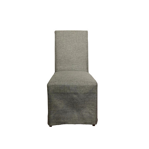 Jasper Slipcovered Side Chair Turbo Ash