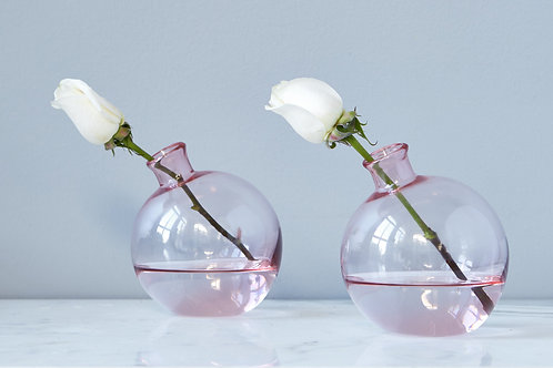 "5"" SPHERE VASE BLUSH"