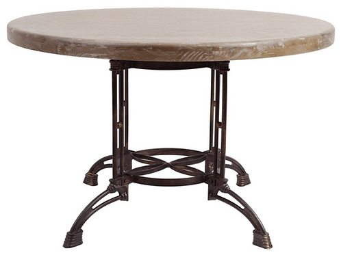 Round and Metal Table