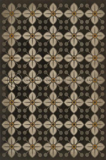 """Vintage Vinyl Floor Cloth - Dafffodil 38"""" x 56"""""""