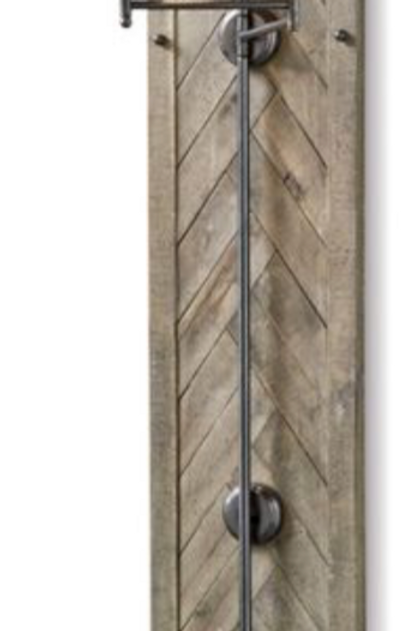 Wood Panel Herringbone Sconce