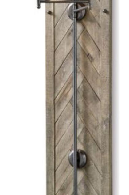 Herringbone Wood Sconce