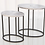 Thumbnail: STRIATED ACCENT TABLE-NICKEL