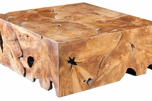 Teak Slice Square Coffee Table