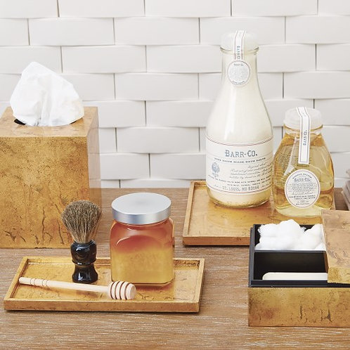 Luxe Gold Rectangle Amenity Plateau