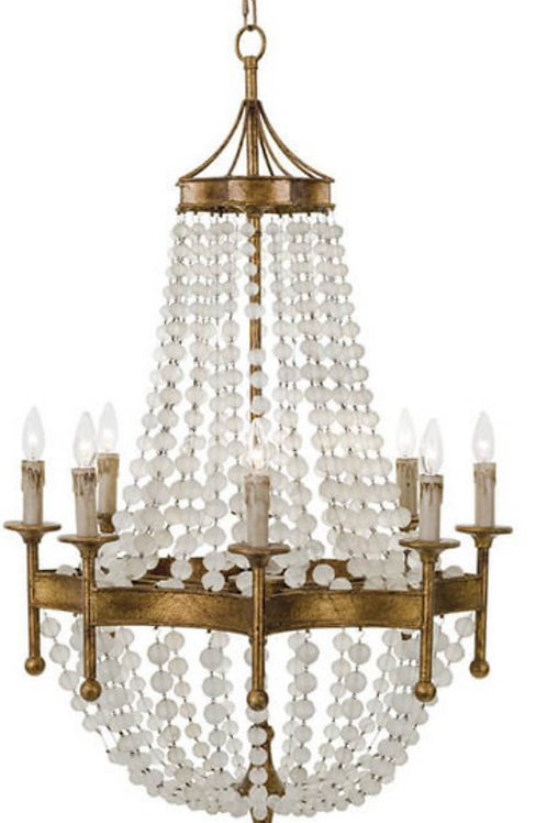 Frosted Crystal Bead Chandelier