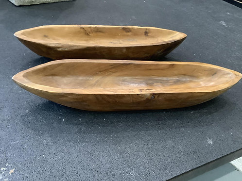 Teak Bowl Oblong - Small