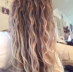 Curly Hair BEFORE shampoo