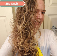 Curly hair after wash 2