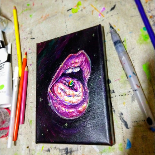 """Original """"Taste The Rainbow"""" Painting"""